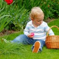 child with basket